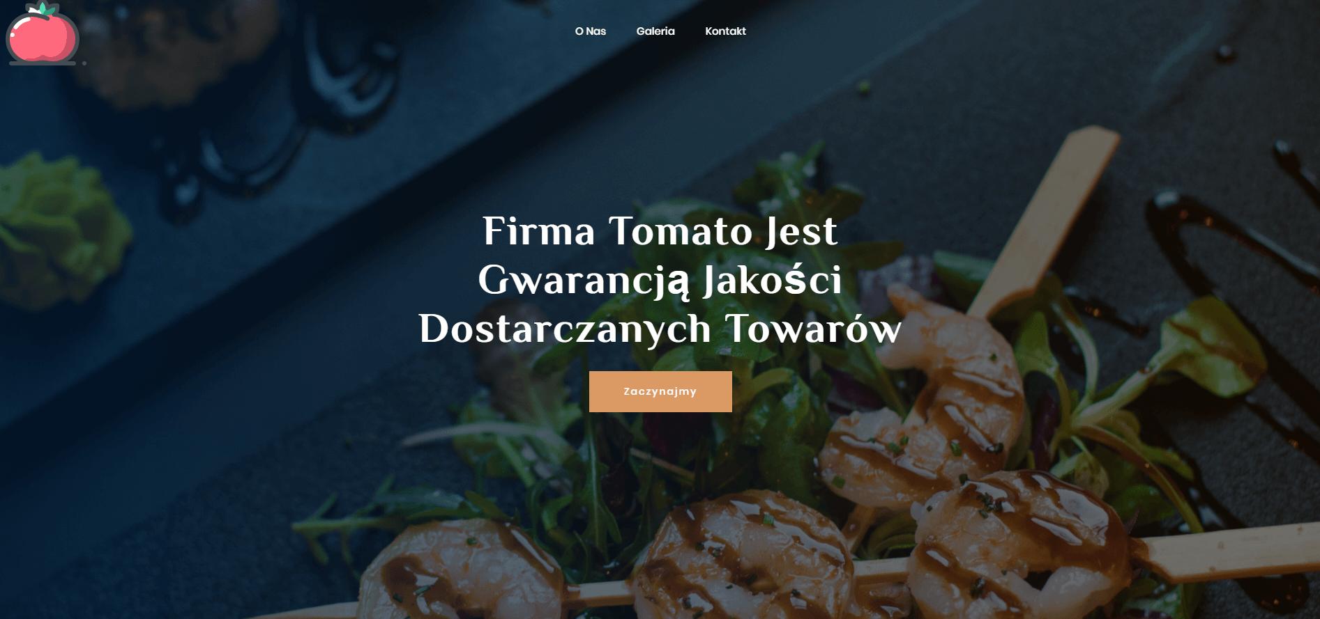 Zrzut ekranu ze strony tomato.com.pl